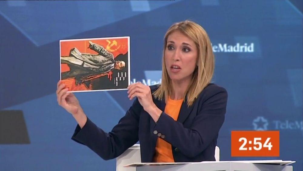 Lenin, protagonista de un debate electoral después de que Saavedra (Cs) sacase un cartel suyo al revés