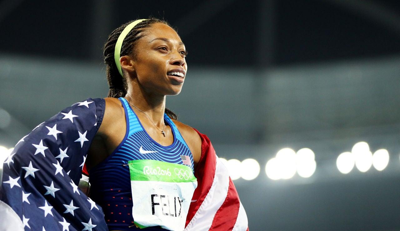 Allyson Felix, durante los Juegos Olímpicos de Río