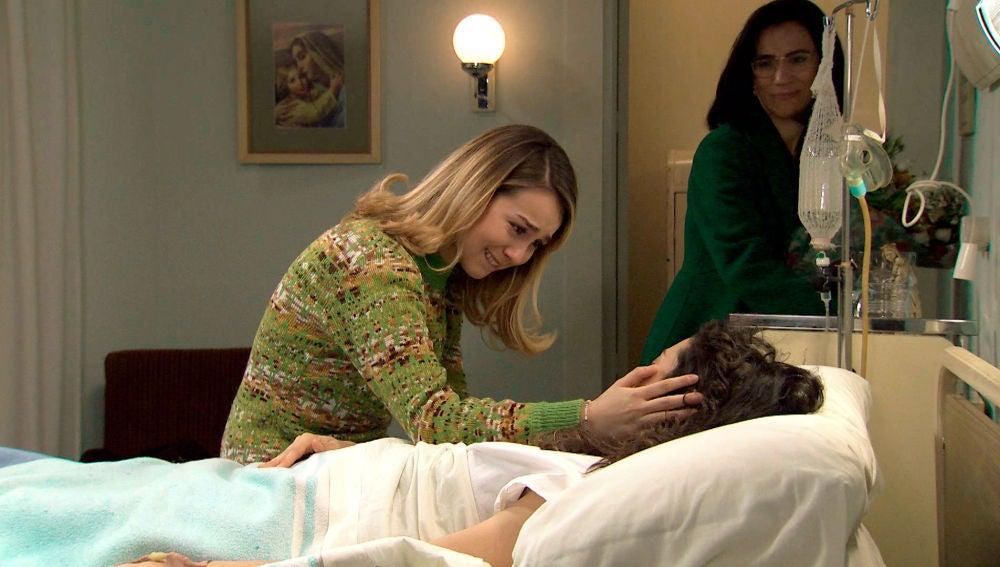 Una visita inesperada irrumpe en plena emoción de Luisita ante la recuperación de Amelia