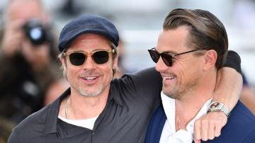 Brad Pitt y Leonardo DiCaprio en Cannes