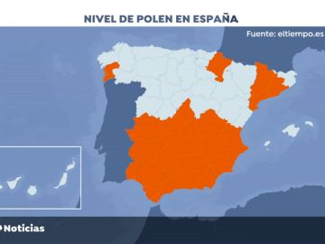 El polen inunda España