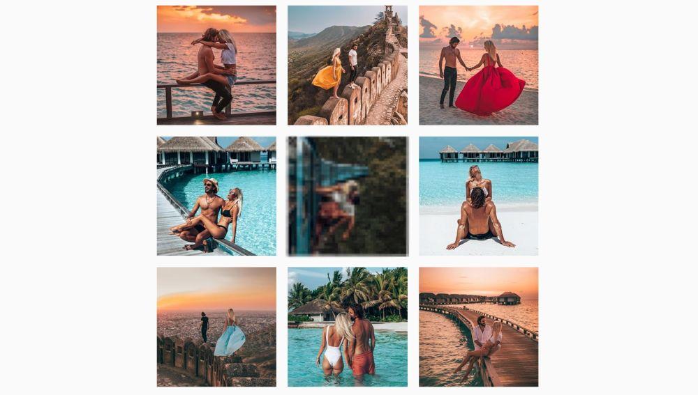 Instagram de la pareja @backpackdiariez