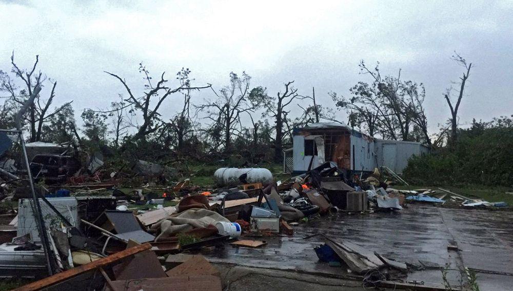 Imagen cedida este jueves por la Agencia Estatal de Manejo de Emergencias de Misuri