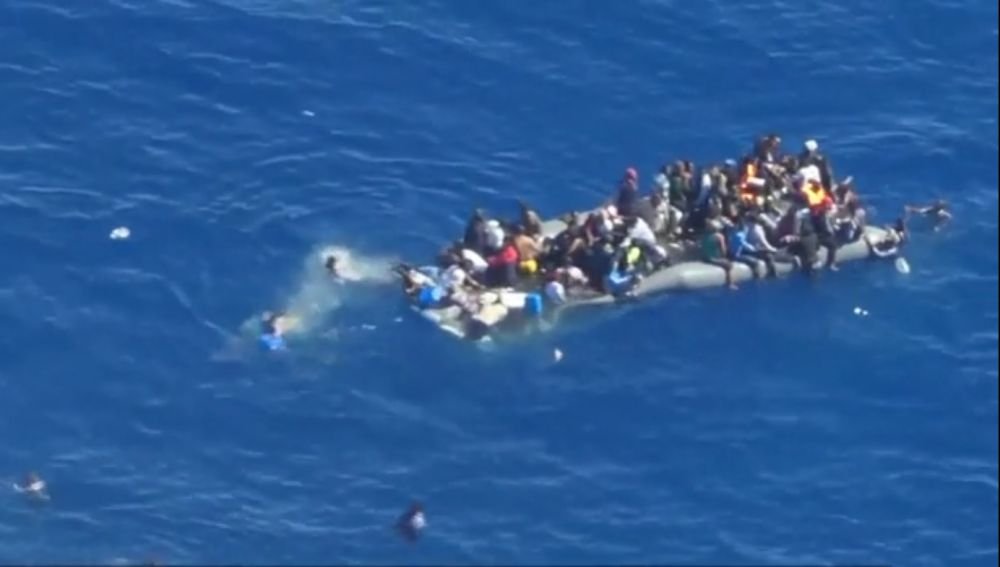 Los inmigrantes rescatados en aguas del Mediterráneo