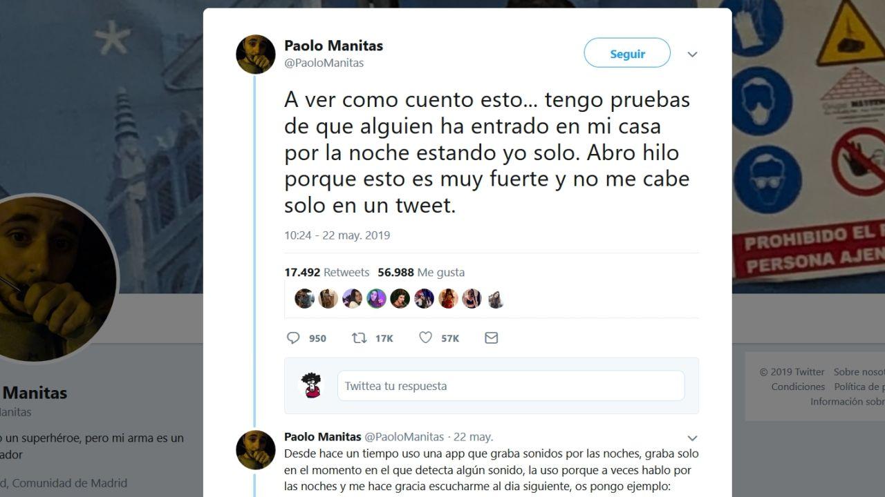 """El Escalofriante Hilo De Paolo Manitas: """"Alguien Ha"""