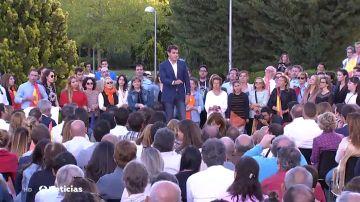 """Cierre de campaña de Ciudadanos: """"Somos el antídoto, el salvavidas naranja. el dique de contención"""""""