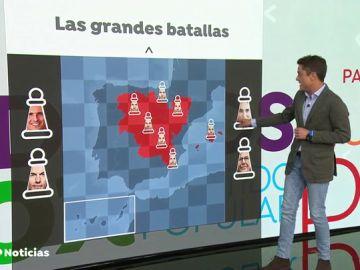 Las grandes batallas del 26M: el PP quiere mantener sus feudos y el poder local se medirá entre Madrid y Barcelona