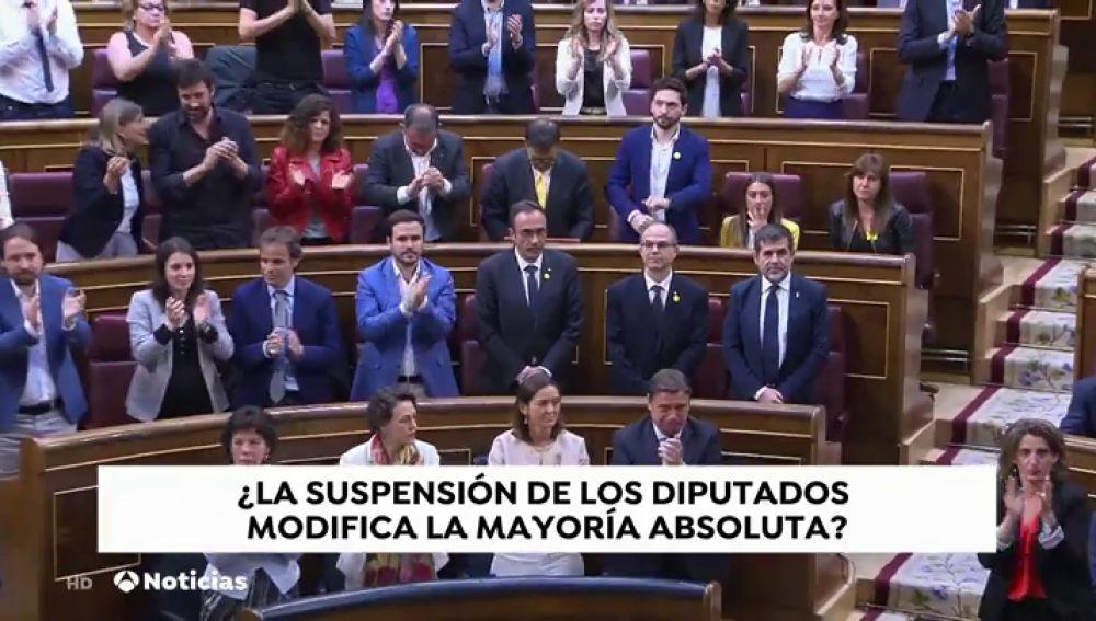 La suspensión de los diputados presos puede afectar a la composición del Congreso
