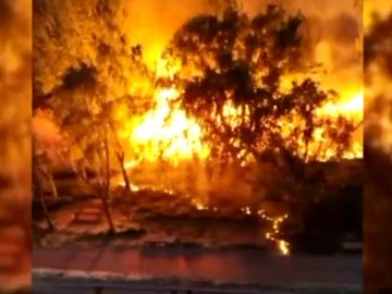 Incendio en Palencia