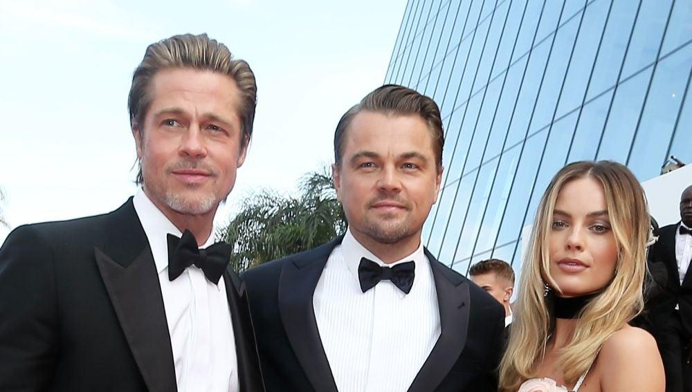 Brad Pitt, Loenardo DiCaprio y Margot Robbie en 'Once Upon a Time in Hollywood'
