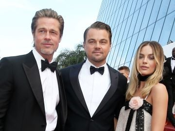 Brad Pitt, Loenardo DiCaprio y Margot Robbie en 'Once Upon a Time in Hollywood'