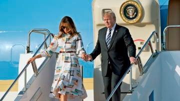 El presidente de EEUU, Donald Trump y su esposa Melania Trump