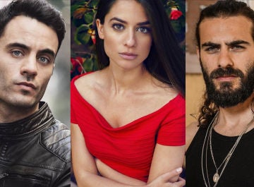Alessandro Bruni, Alejandra Meco y Ibrahim Al Shami, actores de 'El secreto de Puente Viejo'