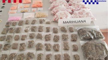 La droga intervenida por los Mossos