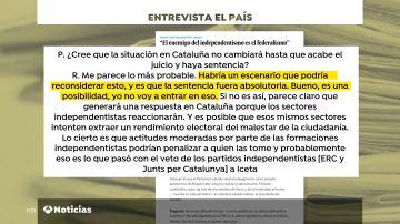 PP y Cs pide a Manuel Cruz que rectifique unas palabras que resultaron ser un error de transcripción