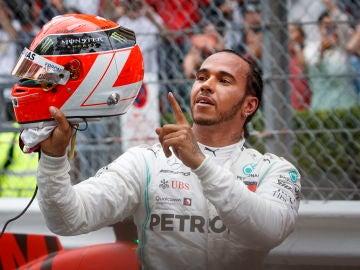 Lewis Hamilton, tras su victoria en el GP de Mónaco