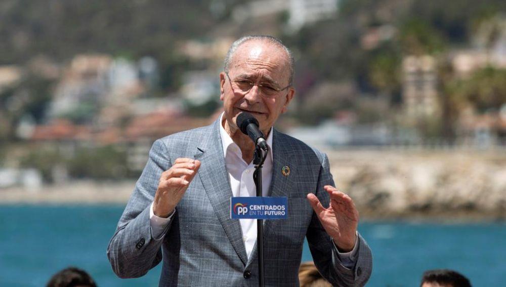 El actual alcalde de Málaga por el PP, Francisco de la Torre.