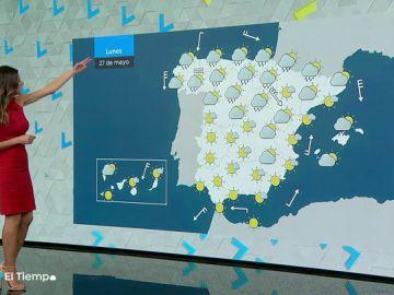 El lunes, tiempo estable en la mayor parte del país, salvo en el Cantábrico y Navarra