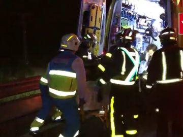 Cuatro heridos, uno de ellos grave, en un accidente de tráfico en Guadalix
