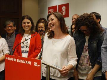 La candidata socialista al Parlament, Francina Armengol.