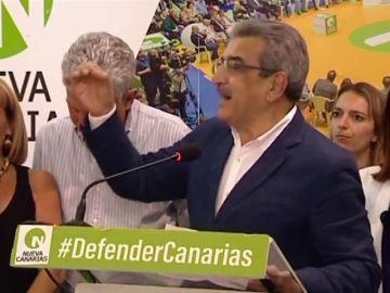 Alegría en la sede de Nueva Canarias al ganar en el Cabildo