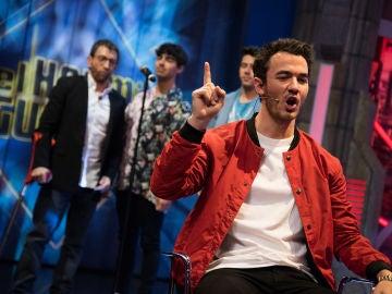 """El """"juego extremo"""" de los Jonas Brothers con Pablo Motos en 'El Hormiguero 3.0'"""