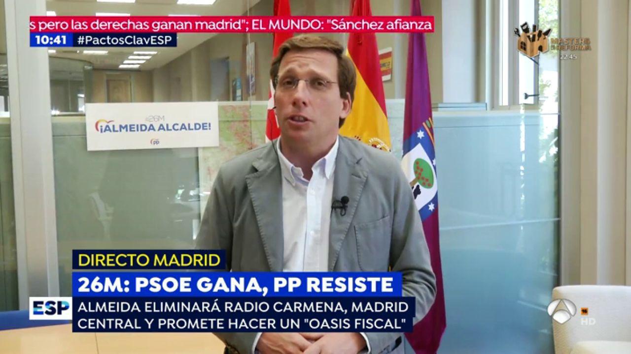"""Almeida: """"Lo Lógico Y Lo Razonable Es Que Formemos"""