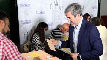 El candidato de Coalición Canaria-PNC a la Presidencia del Gobierno de Canarias, Fernando Clavijo