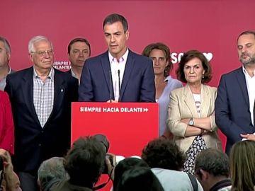 """Pedro Sánchez celebra el triunfo del PSOE: """"Es un orgullo y una responsabilidad"""""""