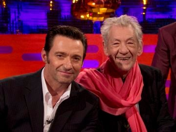 Hugh Jackman e Ian McKellen
