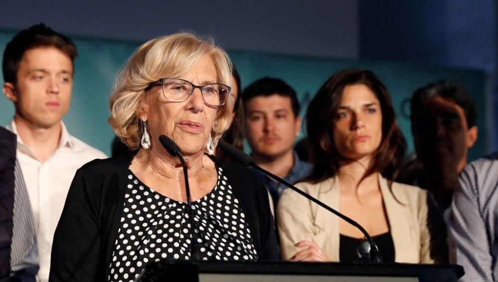 Manuela Carmena ante los medios