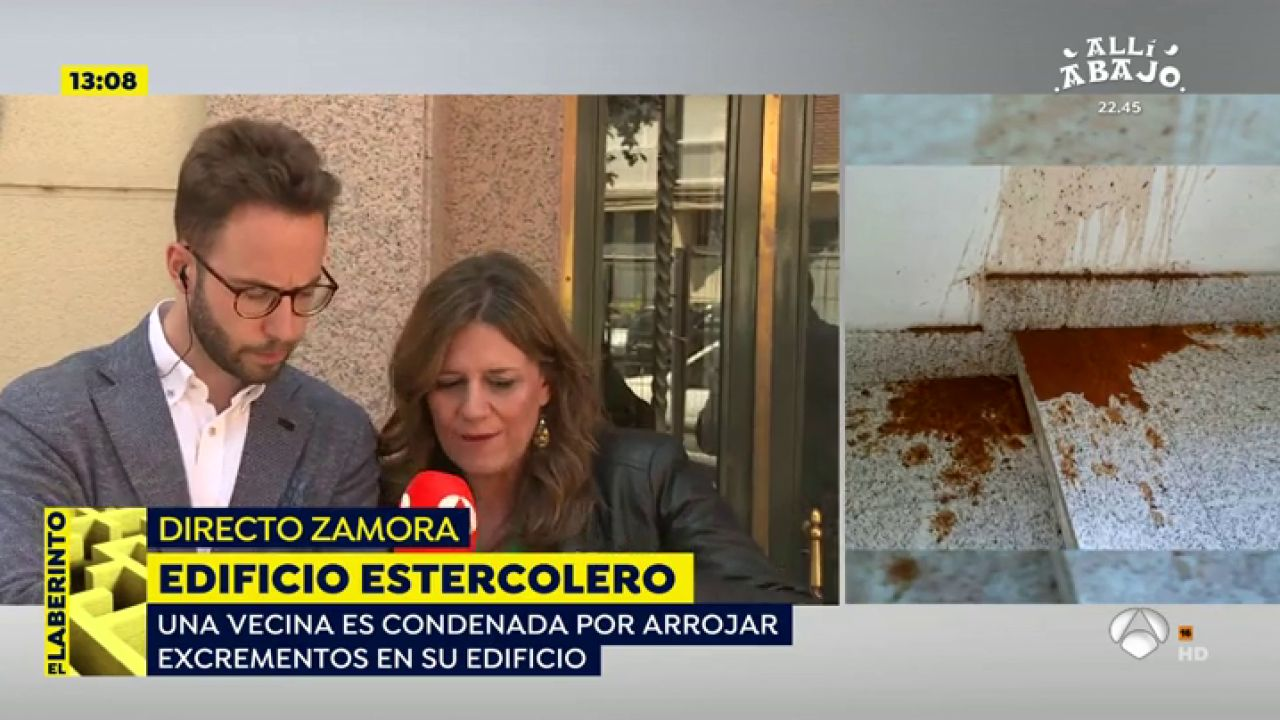 Noticias Guarras el vídeo de las fechorías de 'la vecina más guarra de españa' en su portal de zamora