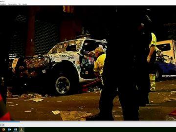 El tribunal visiona las imágenes de los enfrentamientos del 1-O