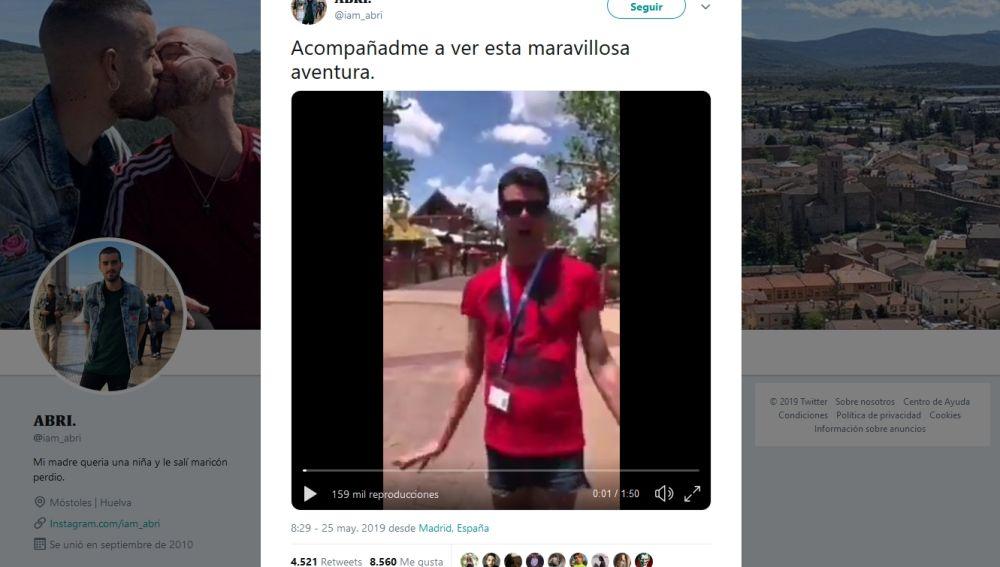 Vídeo viral en Twitter