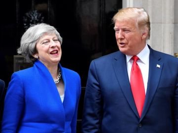 Donald Trump y Theresa May en Reino Unido