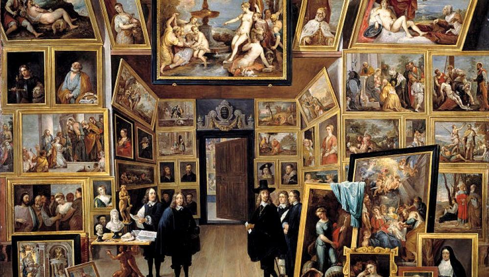 El archiduque Leopoldo Guillermo en su galería de pinturas en Bruselas (David Teniers, Museo del Prado)