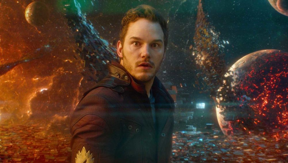 Chris Pratt como Star-Lord en 'Guardianes de la Galaxia'