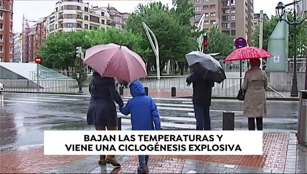 Descenso brusco de las temperaturas en el norte de España