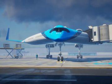Crean un avión con forma de V en el que los pasajeros volarán en las alas
