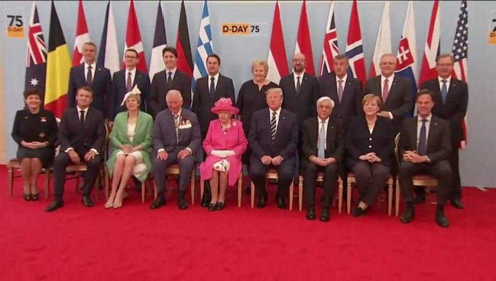 16 líderes mundiales conmemoran el 75 aniversario  el  desembarco de Normandía: