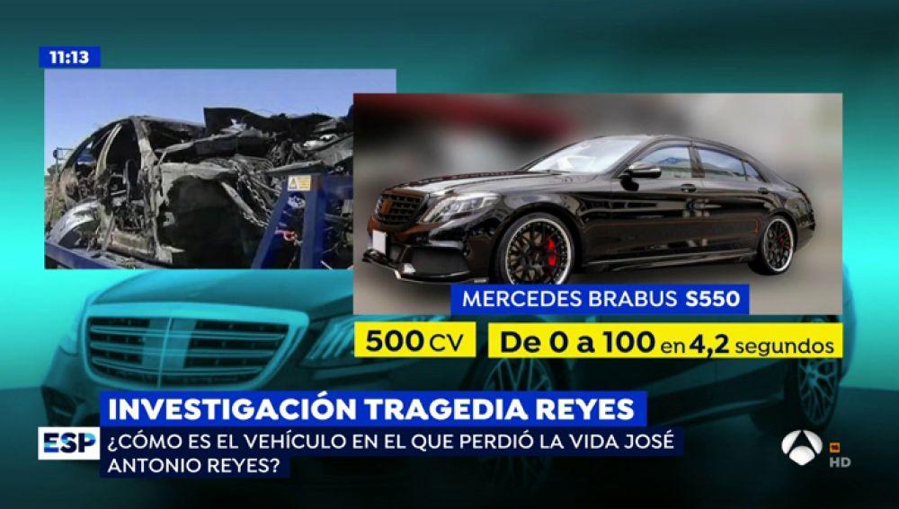 El Mercedes de José Antonio Reyes alcanzaba una velocidad de 0 a 100 en 4,2 segundos