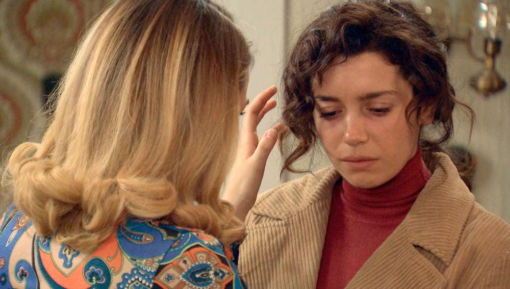 Luisita, descolocada con la fría actitud de Amelia