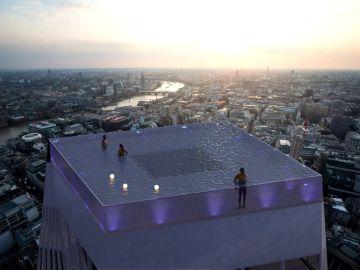 Así será la primera piscina 'infinita', con el fondo transparente y vistas 360º en una azotea