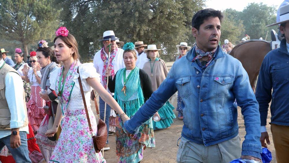 Fran Rivera y Lourdes Montes, en el camino del Rocío