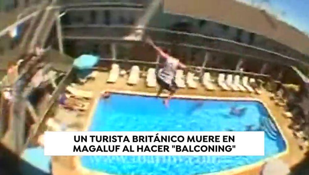 Muere un turista británico al hacer 'balconing' en Magaluf