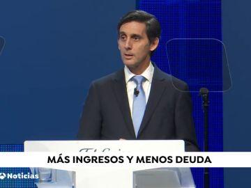 Presidente de Telefónica destaca el aumento de los ingresos y la reducción de la deuda