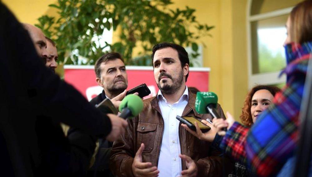 El líder de IU, Alberto Garzón