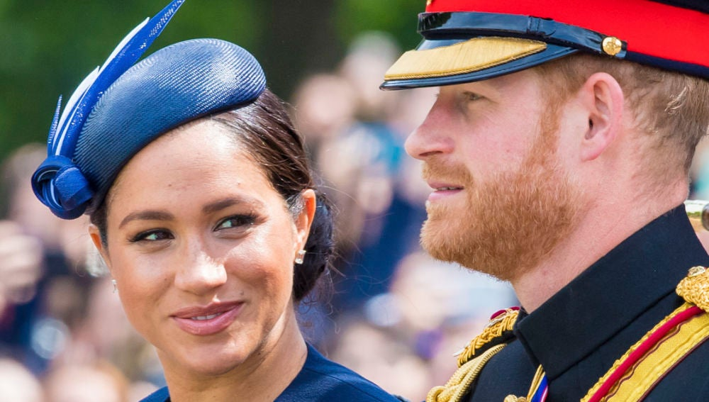 Meghan Markle y el príncipe Harry en el 'Trooping the colour'