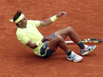 Rafa Nadal, emocionado tras ganar Roland Garros