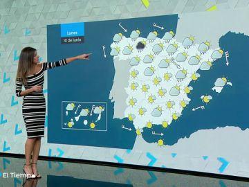 La semana arranca con lluvia en el Cantábrico y Cataluña y despejado en el resto